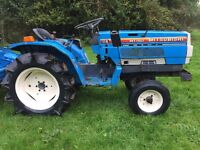 Mitsubishi MT1401 2WD Compact Tractor with NEW FLAIL MOWER only 750 HOURS