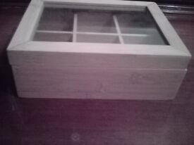 Unused bamboo trinket box - super cute, jewelry or sewing box