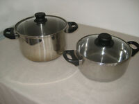2 Saucepans and lids