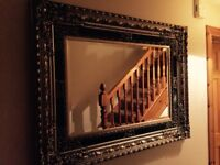 French ornate mirror with beautiful surround
