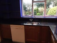 Used Kitchen including granite worktop, sink and tap various wall and base units