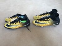 Boys Mercurial football boots x 2 pairs