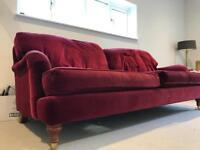 3 seater velvet sofa