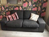 Ikea grey two seater sofa