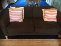 Ikea Brown Sofa two seater FREE. MUST GO