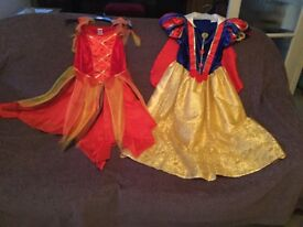 Halloween and Snow White dresses 6-9.Wings Detatchable on back