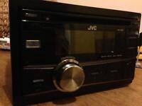 JVC KW R400 Double Din Headunit USB Aux