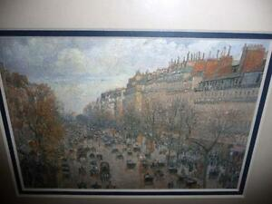 "Camille Pissarro ""Boulevard Montmartre"" 1897 Art Print/Matted London Ontario image 3"