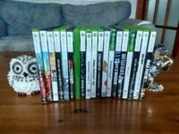 xbox 360+kinect+two controlers+19 games