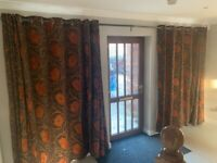 Full length Eyelet Curtains and heavy duty rail