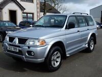 2006 mitsubshi shogun sport petrol only 45000 miles, motd march 2017, 1 owner from new