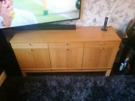 Ikea Oak Veneered Sideboard
