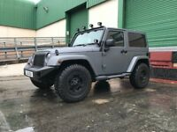 Matt Grey textured paintwork, removable hard top, Rock star wheels, Black leather seats