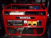 2KW 110V ONLY GENUINE HONDA 4 STROKE PETROL SITE GENERATOR