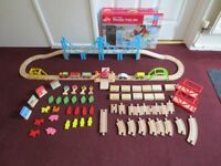 wooden train set used once so as new & boxed £12.50