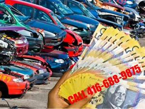 Wanted: Top Cash For scrap cars , tow immediately, Call US 416-688-9875 For Top $$$$