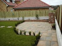 Flagging, fencing, turfing, artificial grass, Indian stone, landscaping , block paving