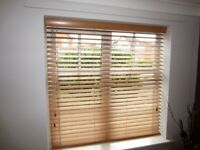 Wooden Venetian Blind - 50mm Sunwood Beech Slats - W 1285mm x H 1300mm