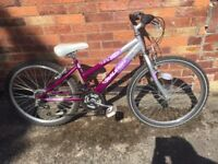 "Girls bike Raleigh Krush Mountain Bike - 24"" wheels C/W safety helmet - can deliver local free"