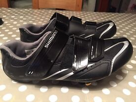Shimano cycling shoes, pedals and cleats
