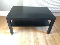 Black/brown IKEA low coffee table