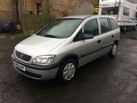 Vauxhall Zafira 1.6 7 seater 03 Reg long mot drives good clean car