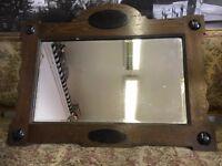Vintage / Retro Mirror - Over Mantle Mirror - Arts And Crafts Mirror - Wall Mirror - Must Go