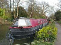 "Residential 56"" Narrowboat For Sale on Idyllic Central Oxford Mooring"