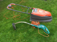 Flymo lawnmower & Black and Decker strimmer (job lot)