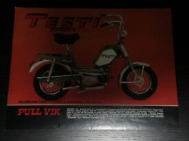 TESTI MOPED, FUEL TANK, CLASSIC MOPED, SPARES REQUIRED, MINARELLI V1 ENGINE.