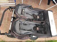 Mountain duet buggy pram stroller push chair pushchair in black/charcoal REDUCED