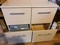 2 x 2 Drawer Maple Effect A4 Filing Cabinets