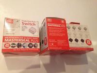 MK Masterseal Plus 10amp 2 way IP66 grey single switches x3
