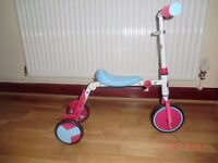2 in 1 Rollers by Zinc R1 Trike to Tri -scooter, new
