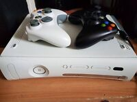 Xbox 360 and 5 games (2 controllers)