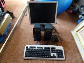 "SONY Power Speakers - 7"" LG Monitor - GIGABYTE Keyboard"
