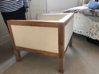Designer Oak framed club chair