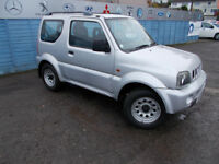 VERY CLEAN JIMNY 1.3 DRIVES A1 FREE MOT FOR AS LONG AS U OWN THE CAR ,FULL SERVICE+WARRANTY !!