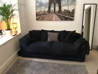 Luxe Navy Blue Two-Seat Sofa For Sale