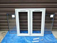 Liniar Agate Grey Double Glazed Window - Unused - Wood Effect -1015mm h x 1005mm w sill/handle/vents