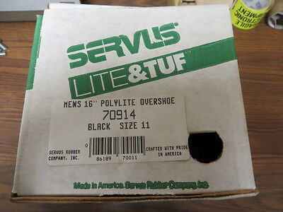 Servus Lite Tuff Size 11 Polylite Overshoe 16 Boots New Made In The U.s.a. New