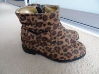 Animal Print Boots (Infant girl size 7)
