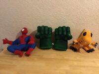 Marvel Heroes ( Hulk/Spiderman ) characters soft toys