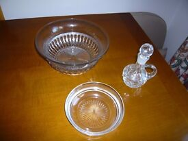 Selection of Cut Glass Items