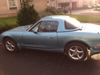 MAZDA MX-5 GOOD CONDITION CRYSTAL BLUE MoT'd