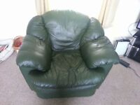 Green leather 3,2,1 suite