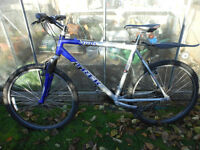 "TREK 4100 MOUNTAIN BIKE CYCLE 21 GEARS 19 1/2"" FRAME SERVICED RIDES WELL READY TO GO BLUE SILVER"