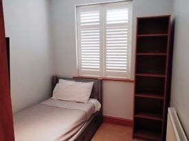 Fully furnished single room with television and plenty of storage space (all bills included)