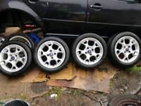 2015 Ford fiesta alloy wheels x tyres x4