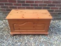 Pine ottoman. Toy box
